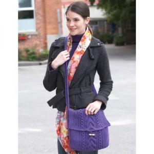 Purple Purse Pattern. This image courtesy of yarnspirations.com