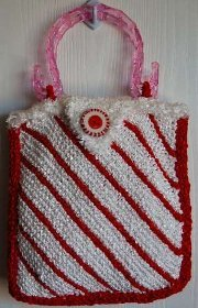 Striped Peppermint Bag. This image courtesy of straw.com.