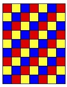 Checkerboard in Primary Colors Stroller Blanket assembly diagram
