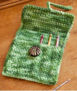 A Creative Case for Crochet Hooks. This image courtesy of Red Heart Yarns.