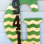 Monogrammed House Number