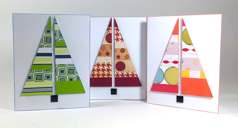 Modern Stripes Handmade Card For Christmas Favecrafts