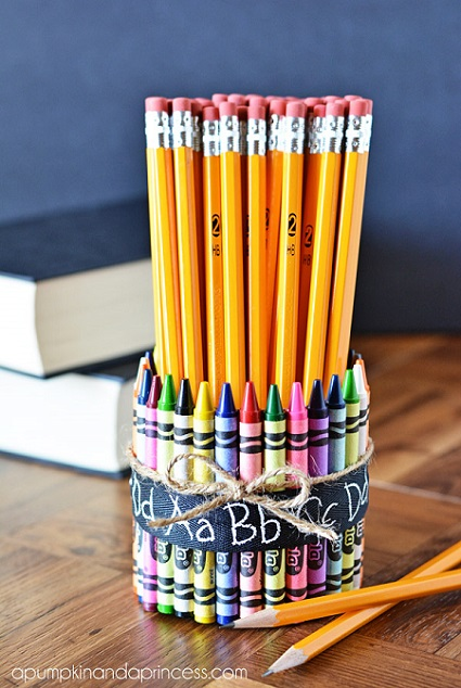 Crayon Vase Gift for Teachers