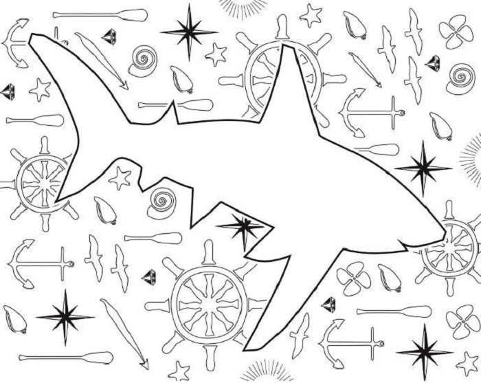 2 Shark Coloring Pages for Shark Week - FaveCrafts