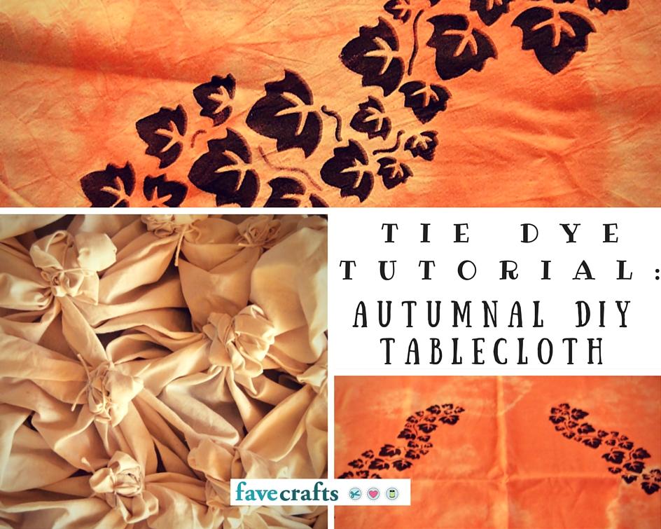 Tie Dye Tutorial DIY Tablecloth