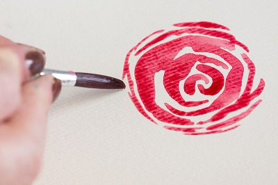 How to Paint Watercolor Roses 5