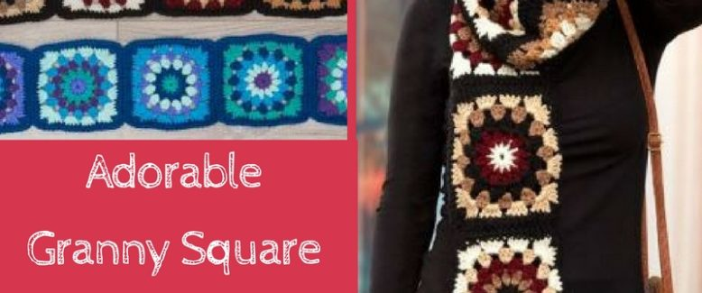 Adorable Granny Square Scarf + 10 More Uses for Granny Squares