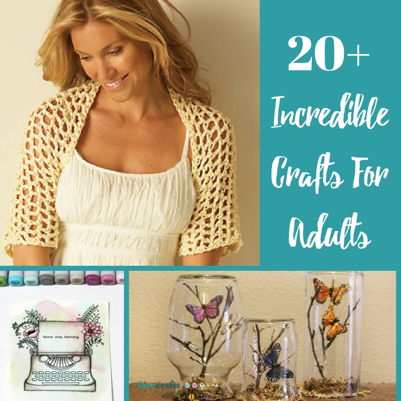 20 Incredible Crafts For Adults