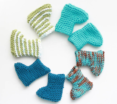 Super Easy Knit Baby Booties