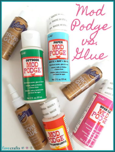 Mod Podge vs. Glue