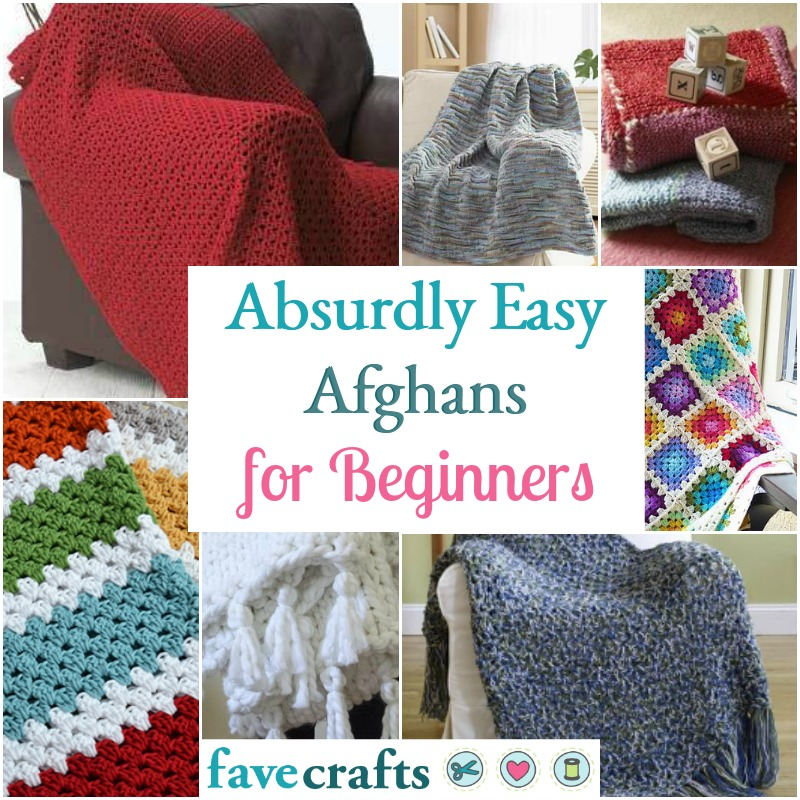 7 Absurdly Easy Afghans for Beginners - FaveCrafts