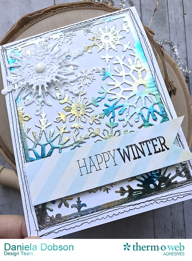 Mixed Media Wintry Card