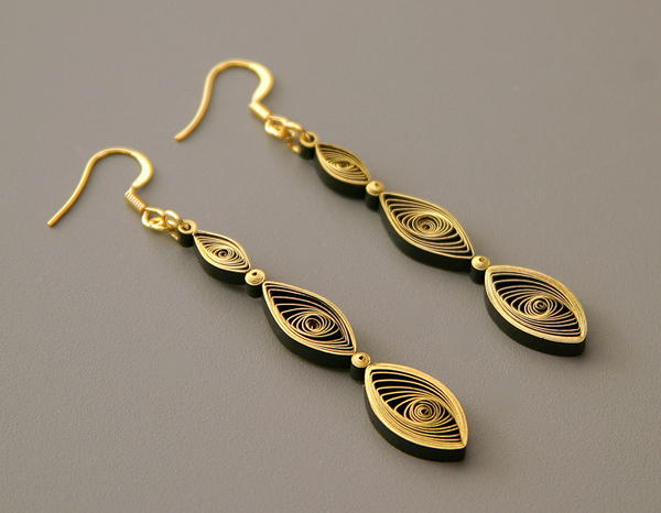 Gilded Paper Dangle Earrings