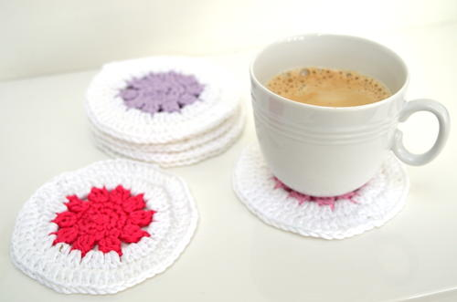 Colorful Homemade Coasters